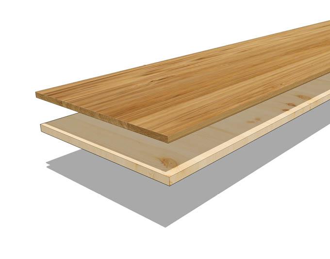 Schichtaufbau vom 2-Schicht-Parkett | Böden Produkte | Stuke Holz