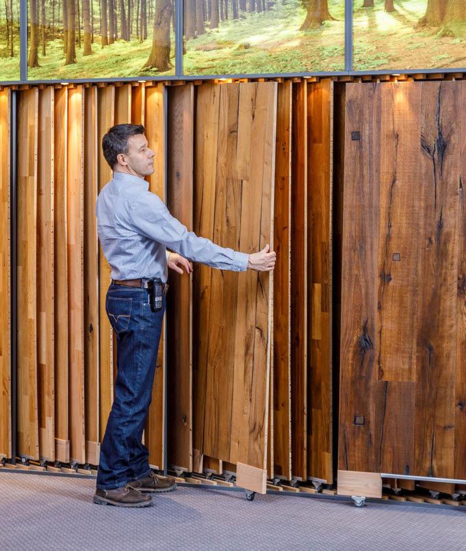 Die Bodenauswahl in unserer Ausstellung für Dein Zuhause | Stuke Holz