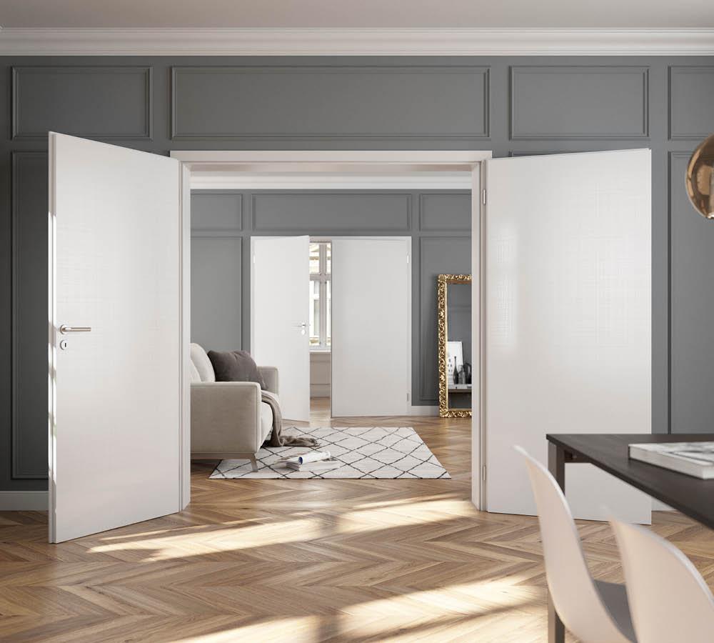 Zweiflügelige Lacktüren für Dein Zuhause bei Stuke