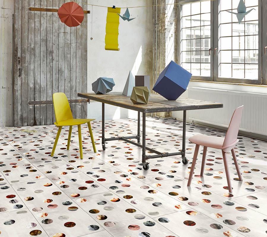 Moderner Laminat-Boden in extravagantem Design | Stuke Holz