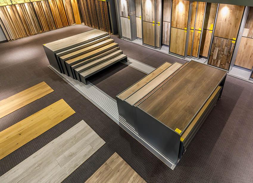 Böden | Draufsicht von der Ausstellung | Stuke Holz