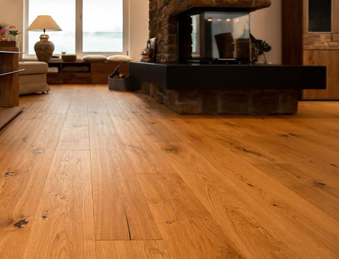 Holzboden eines Referenzprojektes von Stuke Holz.