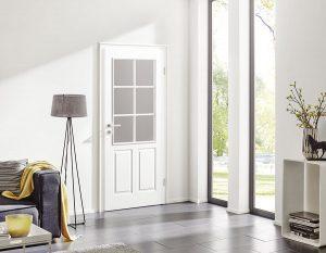 Weiße, moderne Stiltür von Herholz Signum | Blog | Stuke Holz