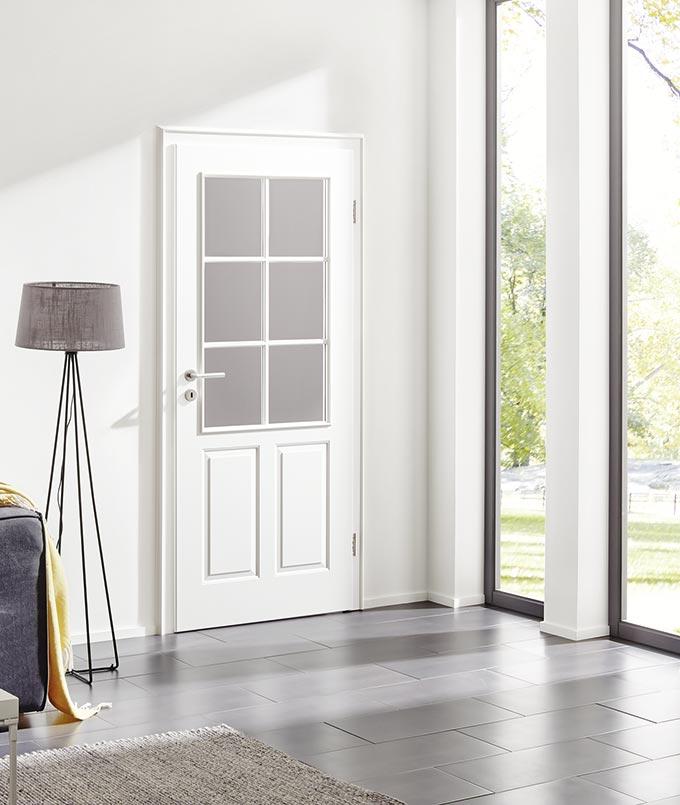 Weiße Stiltür von Herholz Signum bei Stuke Holz.
